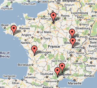 La carte des blogs vins